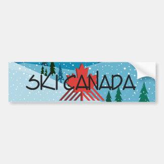 BÄSTA skida Kanada Bildekal