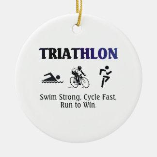 BÄSTA Triathlon Julgransprydnad Keramik