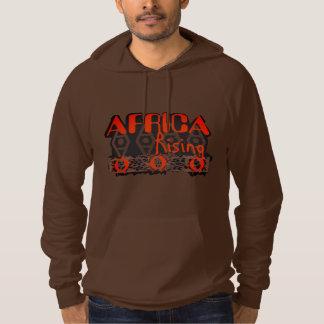 Bästa unisex- grafisk brun orange sweatshirt med luva