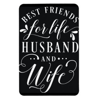Bästa vän för livmake och svart tavla för fru magnet