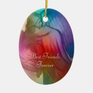 Bästa vänför evigtängel - prydnad julgransprydnad keramik