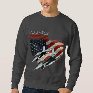 Bästa vapenflagga för T-tröja och kämpejetar Långärmad Tröja