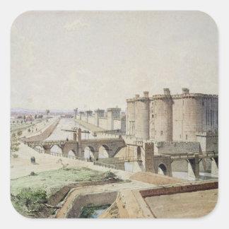 Bastillen i 1420 fyrkantigt klistermärke