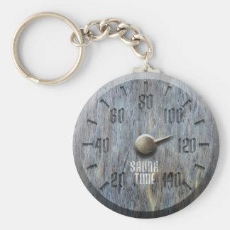 Bastu Time Keychain Rund Nyckelring