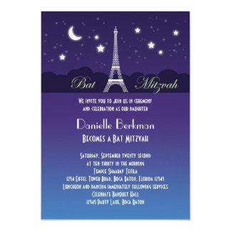 Bat mitzvah inbjudan för Eiffel torn