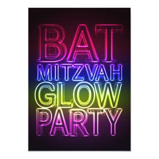 Bat mitzvah inbjudan för GLÖDPARTYfödelsedag