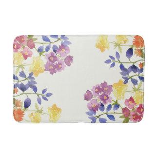 Bathmat för blommor för vildakvarell färgglad badrumsmatta