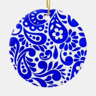 batik mega 03 julgransprydnad keramik