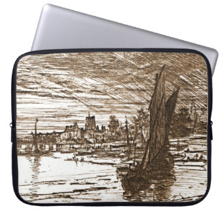 Battersea överbryggar England 1868 Laptop Fodral