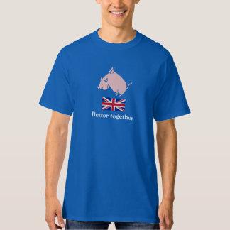 Bättre tillsammans T-tröja för skotsk flyggris T Shirt