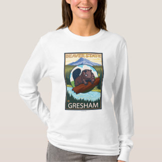 Bäver & Mt.-huva - Gresham, Oregon Tshirts