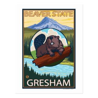 Bäver & Mt.-huva - Gresham, Oregon Vykort