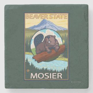Bäver & Mt.-huva - Mosier, Oregon Stenunderlägg