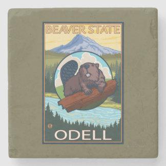 Bäver & Mt.-huva - Odell, Oregon Stenunderlägg