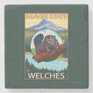 Bäver & Mt.-huva - Welches, Oregon Underlägg Sten