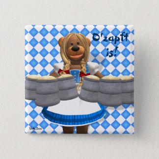 Bayersk oktoberfest Zenzi för Dinky björnar Standard Kanpp Fyrkantig 5.1 Cm