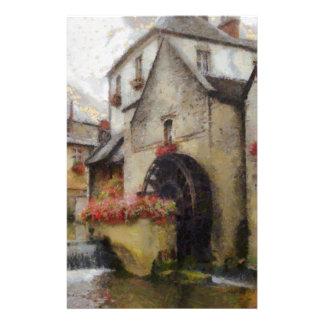 Bayeux i nordliga France. Brevpapper