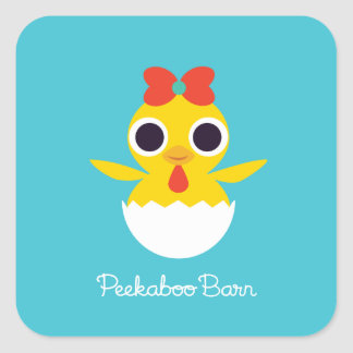 Bayla chicken fyrkantigt klistermärke