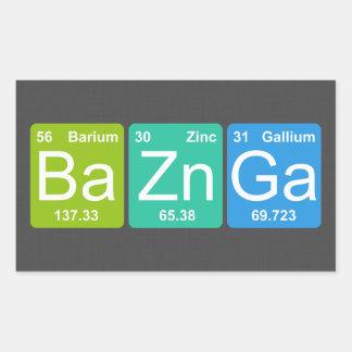 BaZn Ga! Periodiska bordinslagklistermärkear Rektangulärt Klistermärke