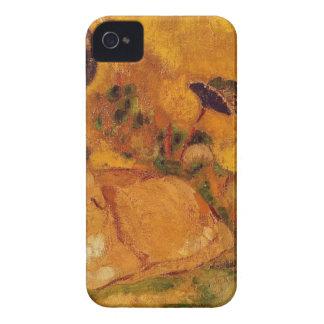 Bazon: Konstnärens katt av Odilon Redon iPhone 4 Cases