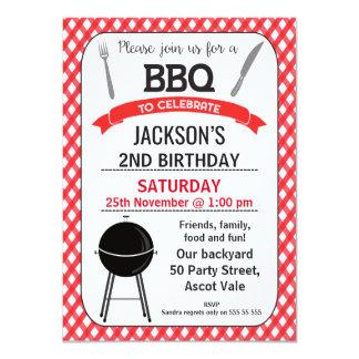 Bbq-födelsedagsfest inbjudan
