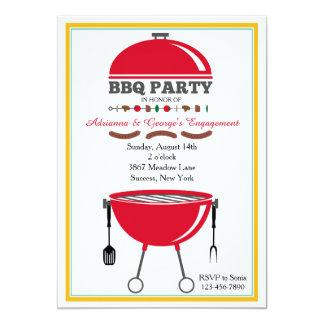 BBQ grillar inbjudan