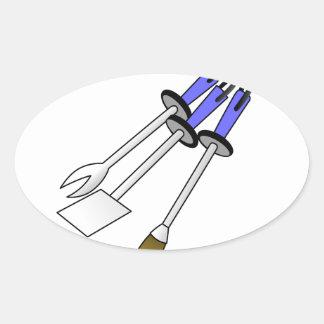 Bbq-verktyg Ovalt Klistermärke