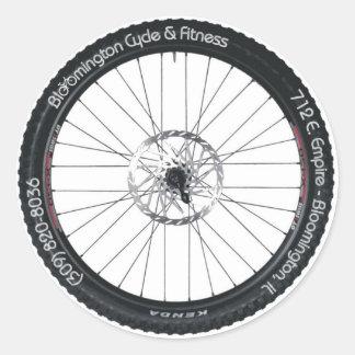 BC&F-däckklistermärke Runt Klistermärke