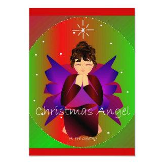 Be för julängelflicka 12,7 x 17,8 cm inbjudningskort