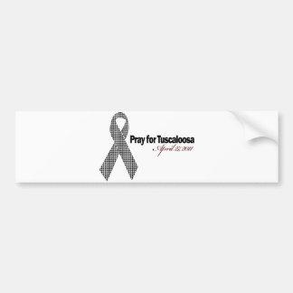 Be för Tuscaloosa Alabama (Houndstooth) Bildekal
