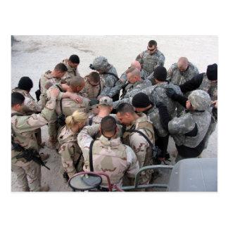 Be för US-soldater Vykort