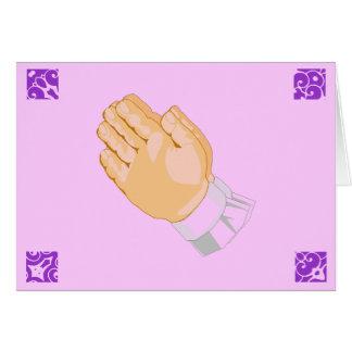 Be händerbarnglad påsk i rosor hälsningskort