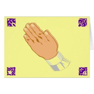 Be händerglad påsk i guld hälsningskort