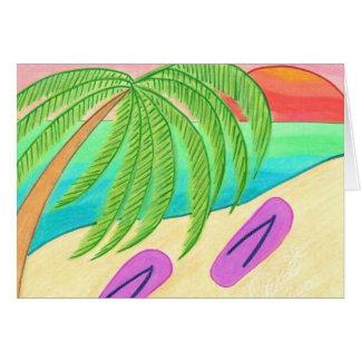 Beach'n flinflip flops hälsningskort