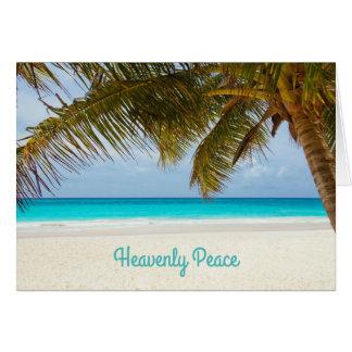 Beachside jul för himmelsk fredpalmträd hälsningskort