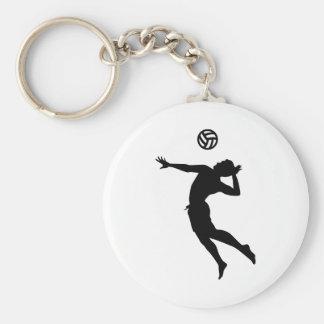 Beachvolleyball spelare rund nyckelring