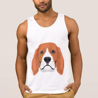 Beagle för illustrationhundansikte tank top