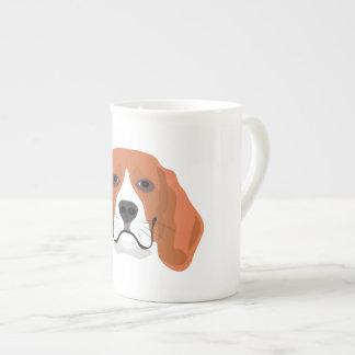 Beagle för illustrationhundansikte tekopp