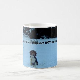 Beagle i vinter! kaffemugg