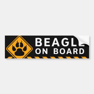 Beagle ombord bildekal
