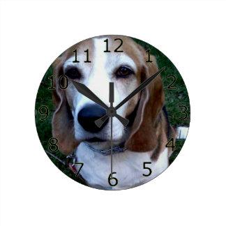 BeagleBassethund Rund Klocka