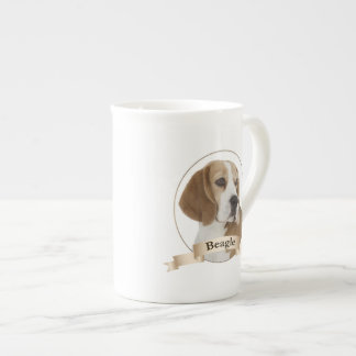 Beaglebenporslinmugg Tekopp