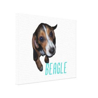 Beaglevalpsitta - skräddarsy bakgrundsfärg canvastryck
