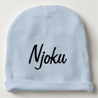 Beanie. för spädbarn för Njoku logotypblått