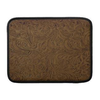 Bearbetad läderLook för land brunt MacBook Air Sleeve