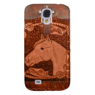 """Bearbetad western iphone 3 fodral för läder""""häst"""""""