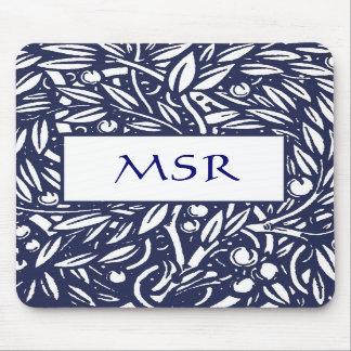 Beardsley art nouveauMonogram Mousepad Mus Mattor