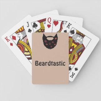 Beardtastic som leker kort spelkort