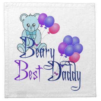 Beary bäst pappa tygservett
