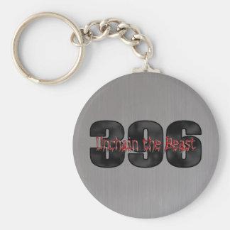 beast 396 det borstade stora kvarteret stålsätter rund nyckelring